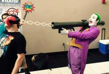 The Joker, with his amazing boxing glove gun (complete with its own sound effect)