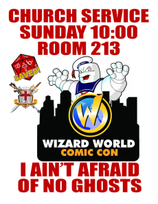 Wizard World Church Flyer
